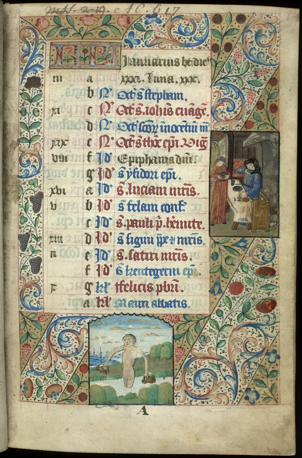Book of Hours, circa 1500, f.1r