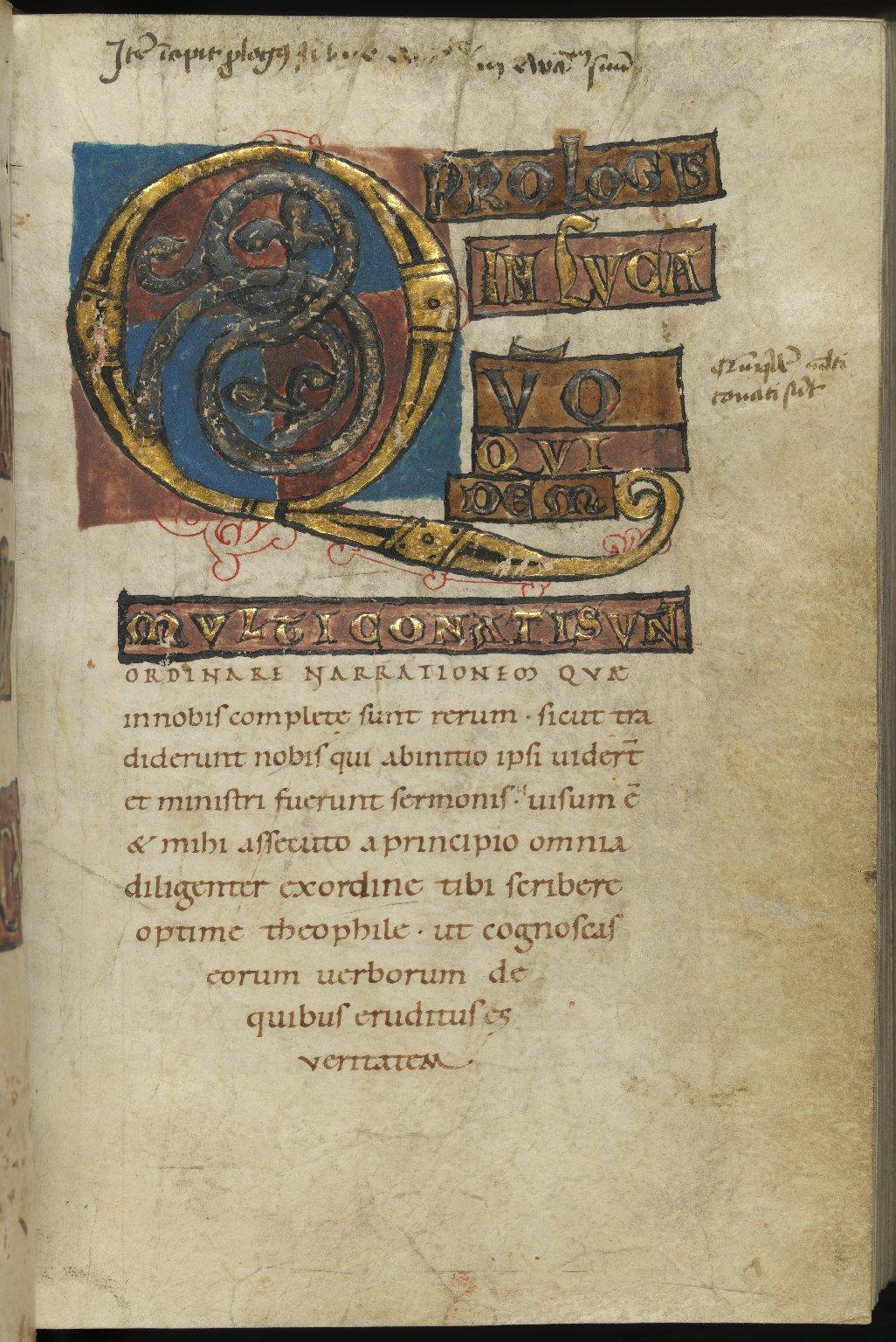 Four Gospels, Germany, 11th C., f.122r