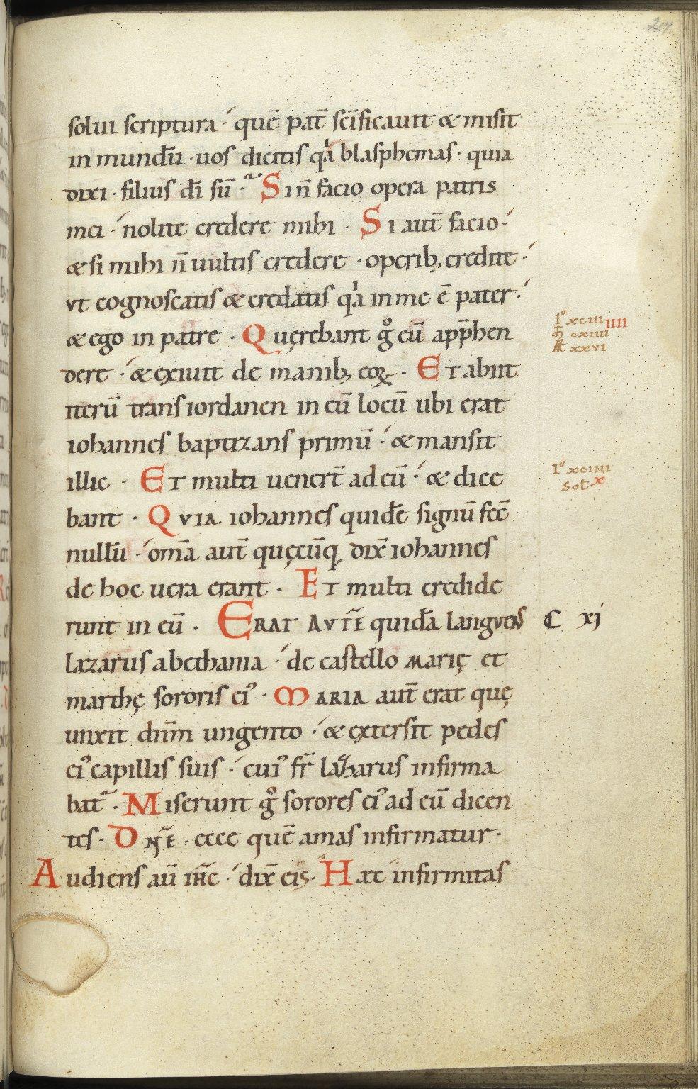 Four Gospels, Germany, 11th C., f.217r