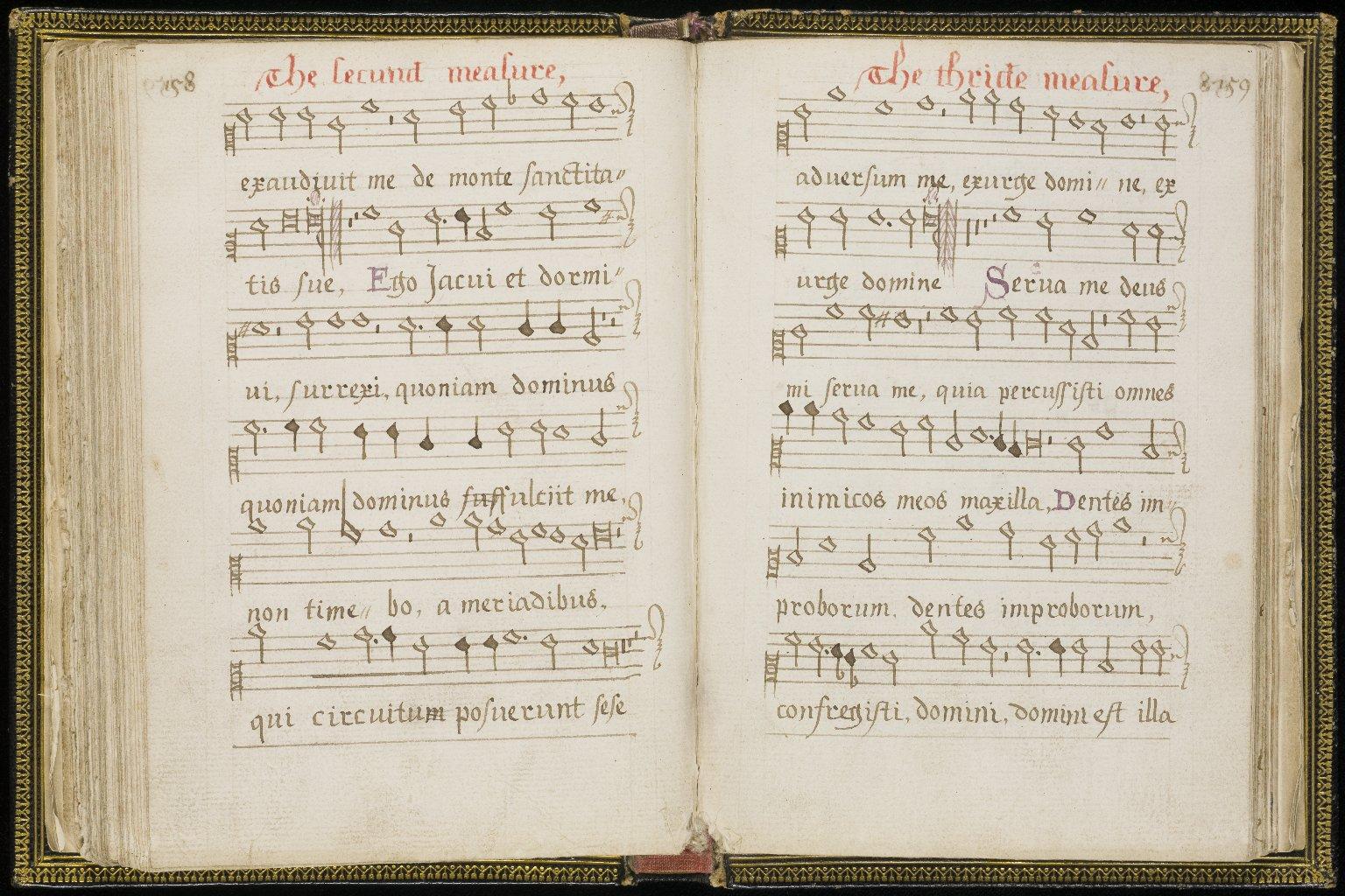 Scottish Metrical Psalter, pp.158-159