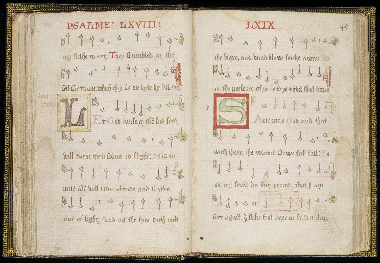 Scottish Metrical Psalter, pp.44-45