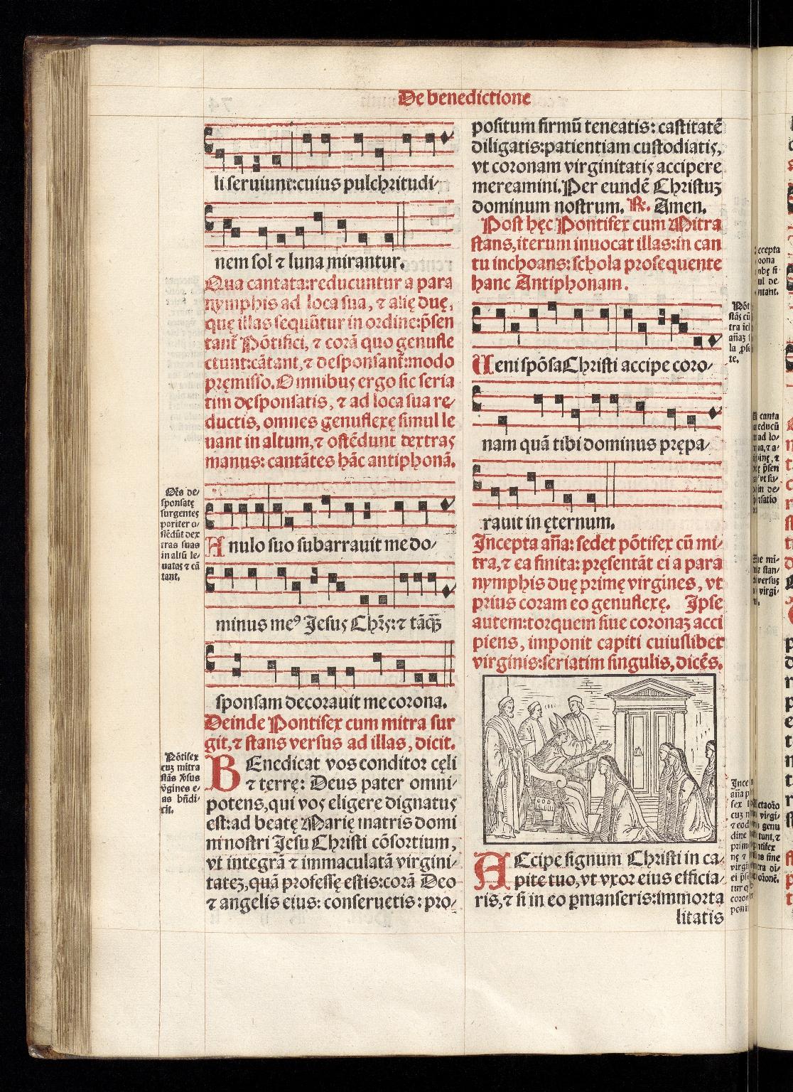 Pontificale Romanum, f.74v