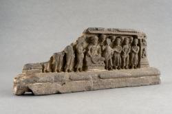 Gandharan sculpture fragments: Buddha and Disciples