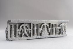 Gandharan sculpture fragments: Buddha and satyrs