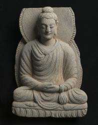 Gandharan sculpture fragments: Seated Buddha