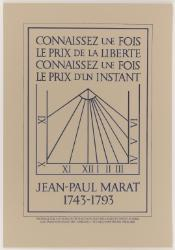 Proposal for a Sundial to be Placed on Marat's House in Paris