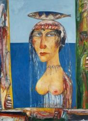 Woman with Fish on her Head