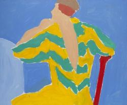 Seated Figure in Striped Top