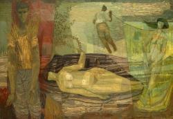 Woman in Fish Net