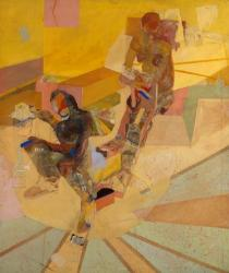 Composition of Two Figures on Yellow*